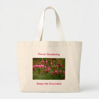 Flower Motif on a Canvas bag. Large Tote Bag