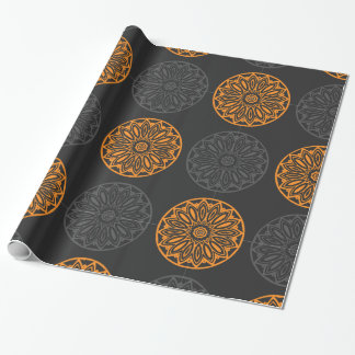 flower motif wrapping paper
