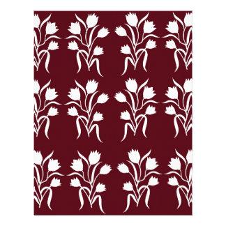 Flower motifs Design Personalized Letterhead