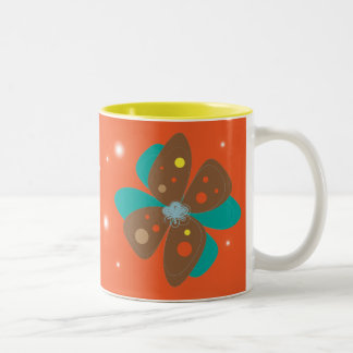 Flower Two-Tone Mug