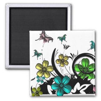 Flower N Butterfly Magnet