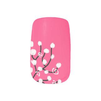 Flower nails minx nail art