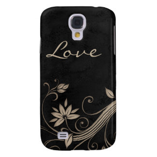 Flower Nature iPhone Cover Beige Black