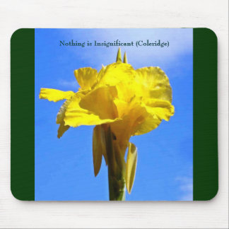 flower, Nothing is Insignificant (Coleridge) Mouse Pad