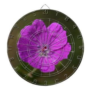Flower of a bloody geranium dart board