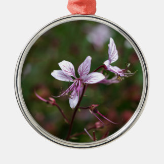 Flower of a burning bush Silver-Colored round ornament