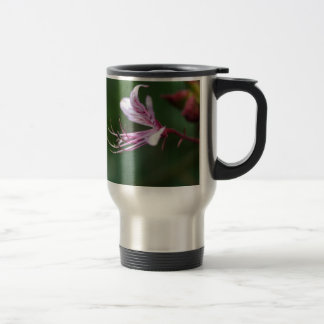 Flower of a burning bush travel mug