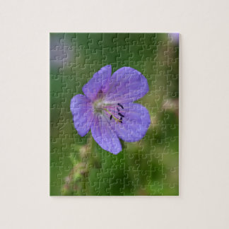 Flower of a meadow geranium jigsaw puzzle