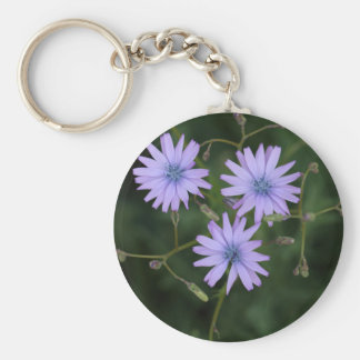 Flower of a mountain lettuce basic round button keychain