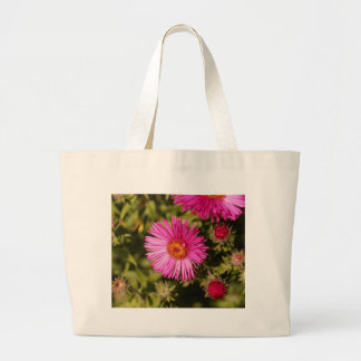 Flower of a New England aster Large Tote Bag