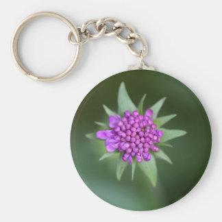 Flower of a Scabiosa lucida Keychain
