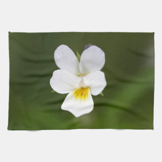 Flower of a wild field pansy kitchen towels
