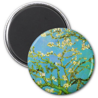 Flower of Almond tree 2 Inch Round Magnet