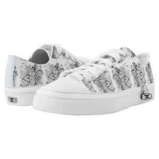 Flower of Hearts Low-Top Sneakers
