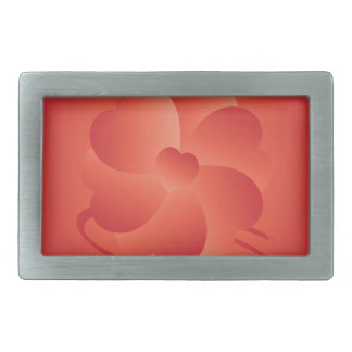 Flower of hearts rectangular belt buckles