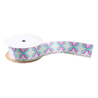 Flower Of Hope Ribbon Satin Ribbon