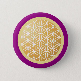 Flower of Life 2 Inch Round Button