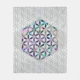 Flower of life Abalone shell on pearl Fleece Blanket