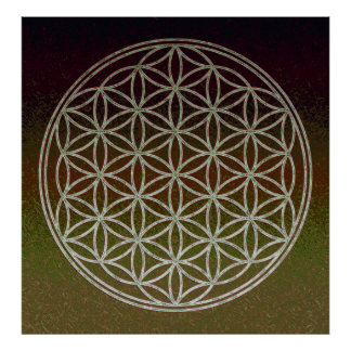 Flower of Life - Alien Rendition Posters