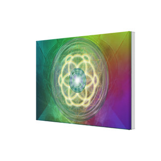 Flower of Life and ground zero Canvas Print