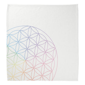 Flower of Life Bandana - Prism colours