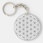 Flower of Life (Black and White) Keychains