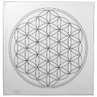 Flower of Life Black Line Napkin