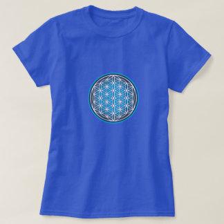 Flower of Life Blue T-Shirt