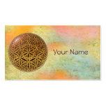 Flower Of Life / Blume des Lebens - ball grid gold Pack Of Standard Business Cards