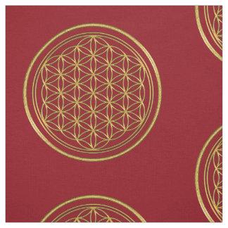 Flower Of Life / Blume des Lebens - brilliant gold Fabric