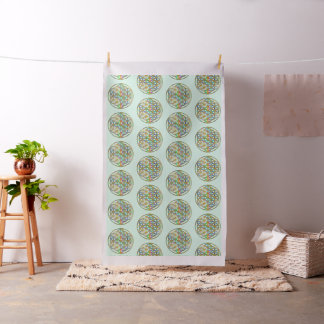 Flower Of Life / Blume des Lebens - colorful shine Fabric