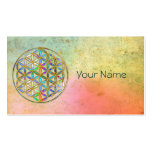 Flower of Life / Blume des Lebens - gold colourful Business Card
