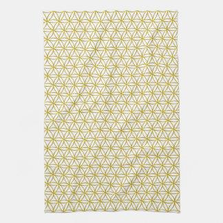 Flower of Life / Blume des Lebens - gold pattern Kitchen Towel