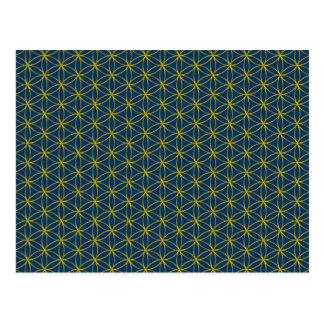 Flower of Life / Blume des Lebens - gold pattern Postcard