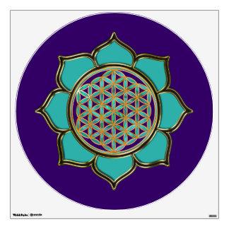 Flower of Life / Blume des Lebens - Lotus tuerkis Wall Sticker