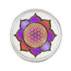 Flower of Life / Blume des Lebens - Lotus violet Lapel Pin