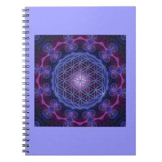 FLOWER OF LIFE/Blume des Lebens Mandala II Square Notebooks