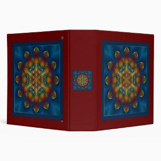 FLOWER OF LIFE/Blume des Lebens Mandala III Square 3 Ring Binder