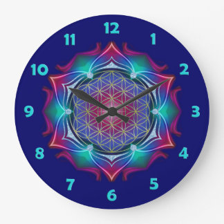FLOWER OF LIFE / Blume des Lebens - Mandala IV Round Wallclocks