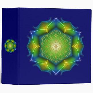 FLOWER OF LIFE / Blume des Lebens - Mandala V 3 Ring Binder