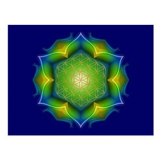 FLOWER OF LIFE / Blume des Lebens - Mandala V Postcard