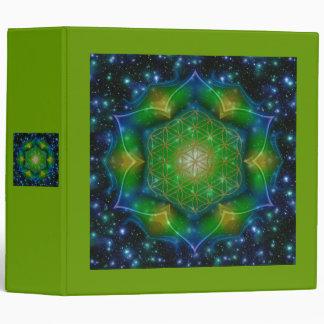 FLOWER OF LIFE/Blume des Lebens Mandala V Square Binder
