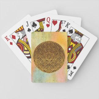 Flower Of Life / Blume des Lebens - medal gold Playing Cards