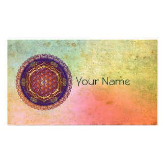 FLOWER OF LIFE / Blume des Lebens - Ornament I Business Card Template