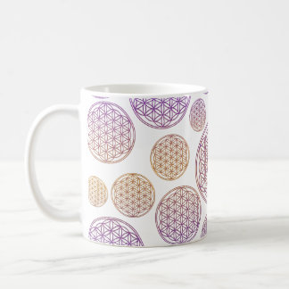 Flower of Life / Blume des Lebens - pattern violet Coffee Mug