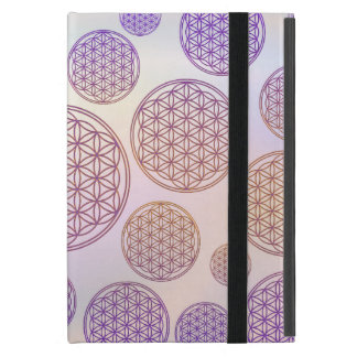 Flower of Life / Blume des Lebens - pattern violet iPad Mini Cases