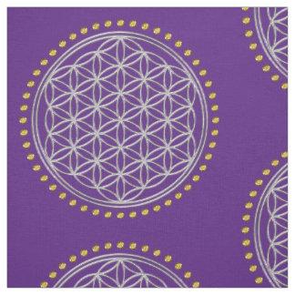 Flower Of Life / Blume des Lebens - shiny crystal Fabric