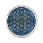 Flower Of Life / Blume des Lebens - silver gold Lapel Pin