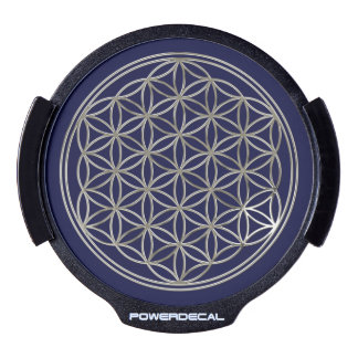 Flower Of Life / Blume des Lebens - silver LED Window Decal