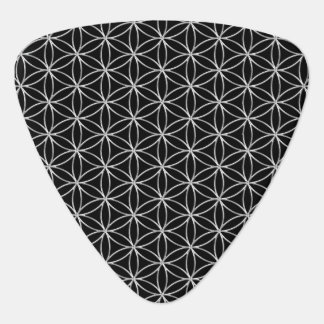 Flower of Life / Blume des Lebens - silver pattern Guitar Pick